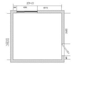 квадратная комната