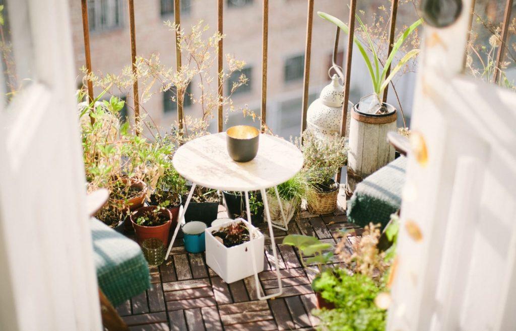стиль Бохо балкон