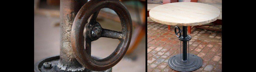 стол из элементов старых