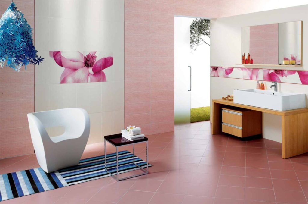 сочетание розового цвета в интерьере