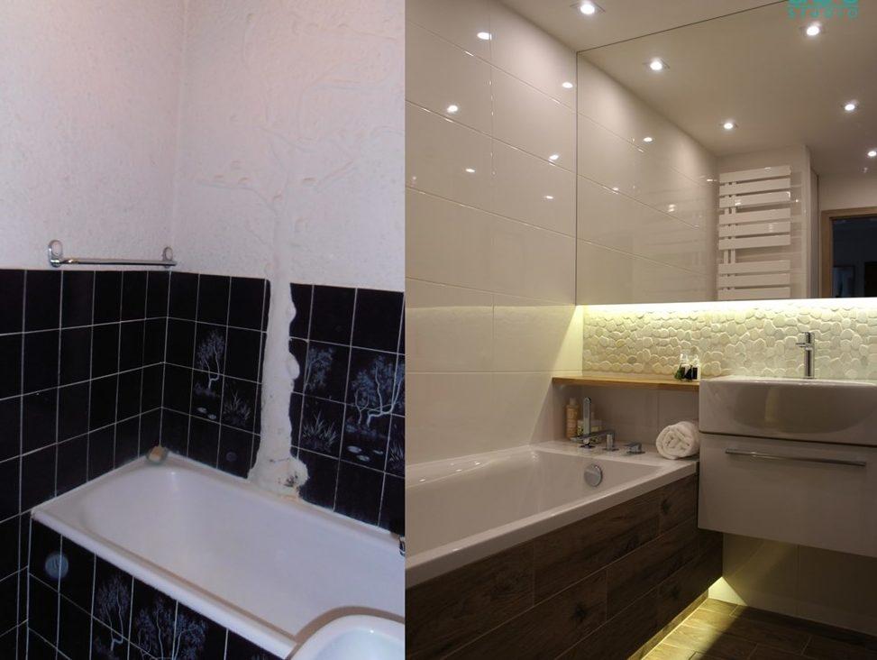 приклеить зеркало на стену в ванной