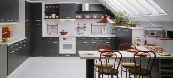 Кухня в мансарде — как обставить кухню под углом?