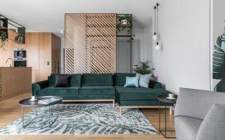 Уникальный дизайн: зеленый цвет в современной квартире