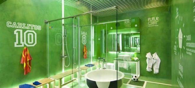 Ванная для настоящих фанатов футбола