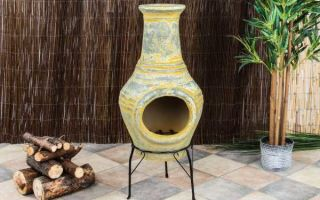 Мексиканский садовый камин для прохладных вечеров