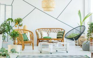 Модные аксессуары для дома — мебель и украшения из лозы и ротанга