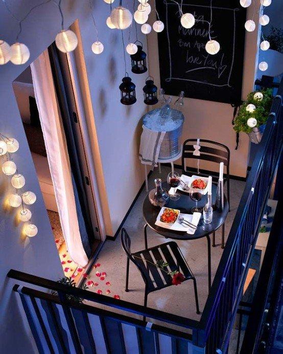 Освещение террасы, балкона и сада – 20 идей
