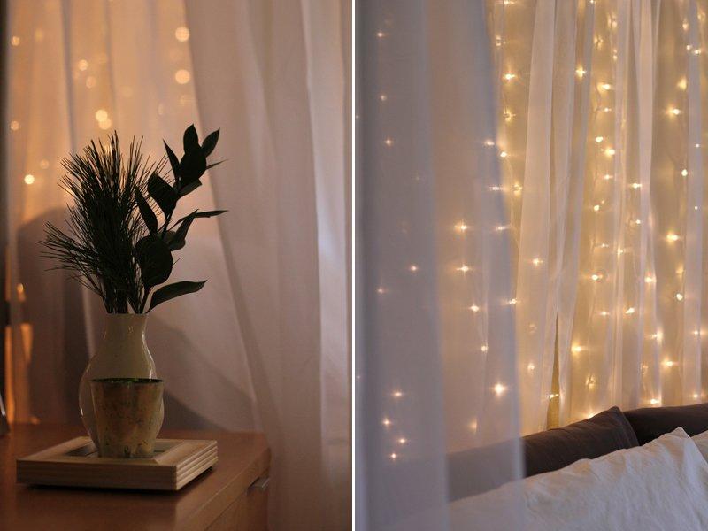 Оригинальное освещение дома гирляндами