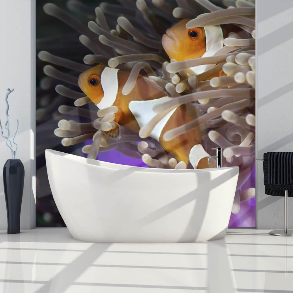 Фотообои на стену ванной комнаты – как сломать рутину