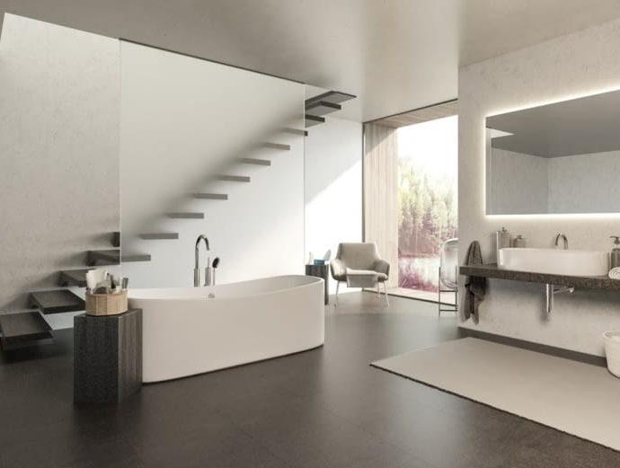 Мраморные узоры в интерьерах домов и лофтов