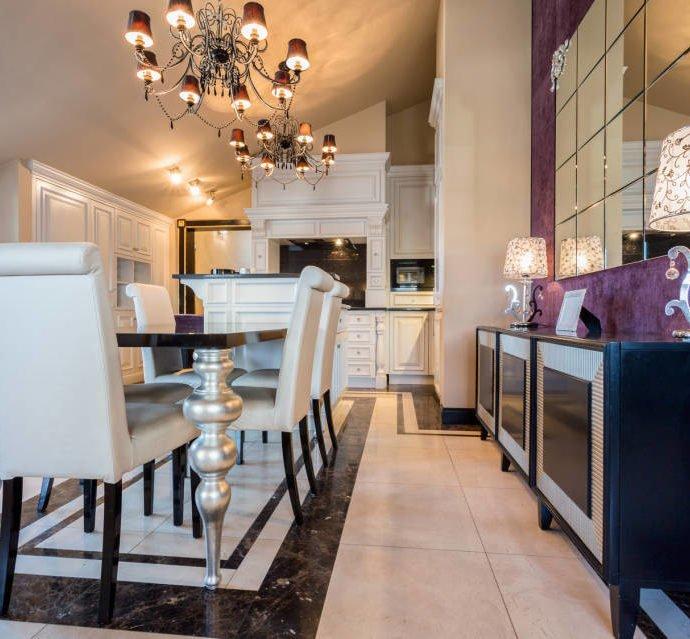 Как оформить гостиную в стиле гламур?
