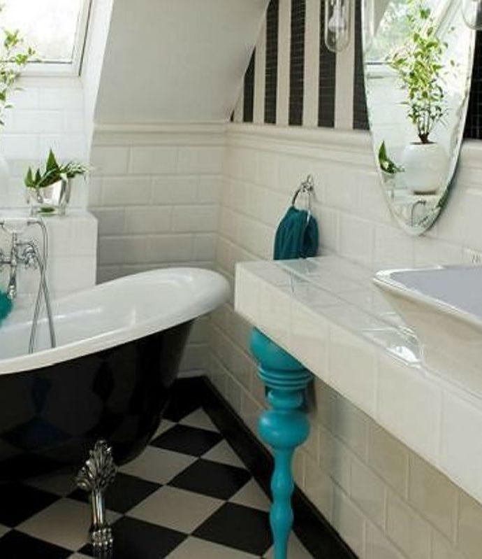 Как оформить ванную комнату в стиле ретро?