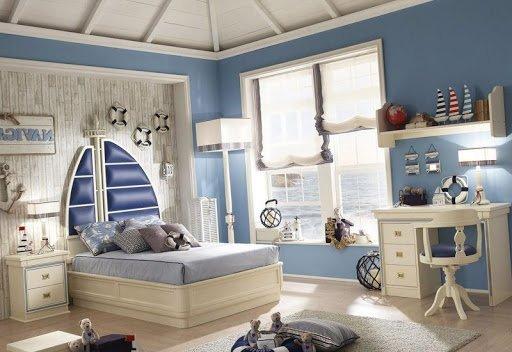 Обустройство комнаты в морском стиле – какие аксессуары?