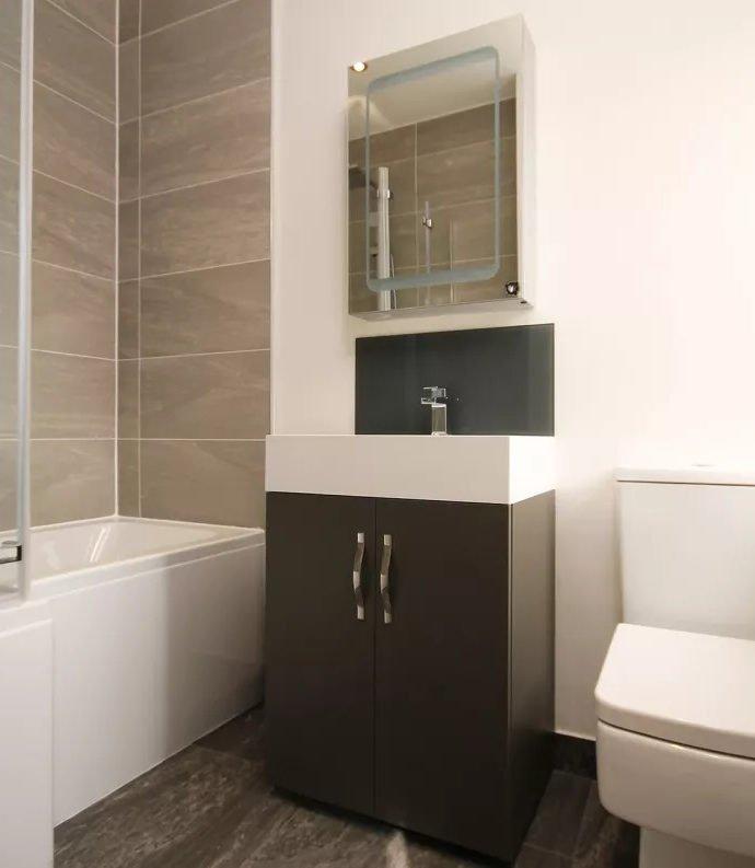 Перехитрить пространство, место для хранения в маленькой ванной