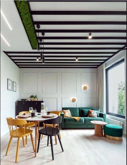 Квартира в ботаническом стиле – мох на потолке!