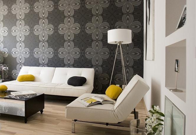 Обои в гостиной. 14 идей модной отделки стен